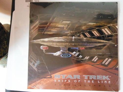 calendario star trek ships of the line 2001 souvenir tv show
