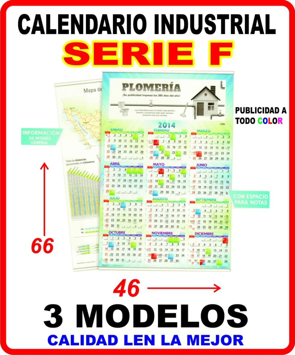 Calendario F.Calendario Varilla Industrial Serie F Len 2020