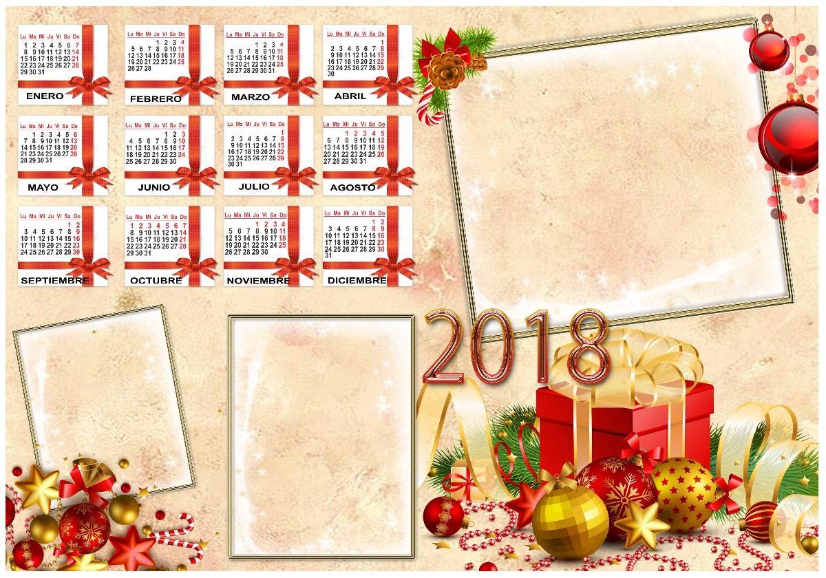Calendarios 2018 - Pack De 290 Plantillas Editables - Bs. 300,00 en ...