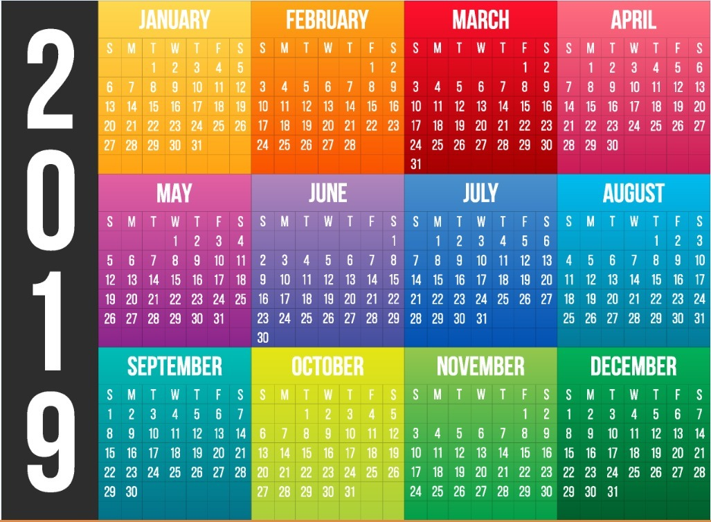 calendarios 2019  vectores  40 dise u00f1os diferentes