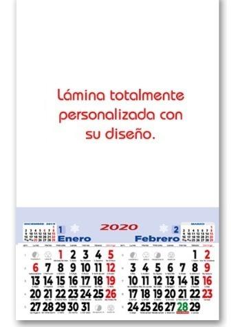 calendarios 2021 personalizado tamaño 1/8 100 unidades
