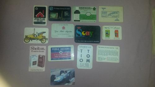 calendarios almanaques de bolsillos dec del 70 lote de 13
