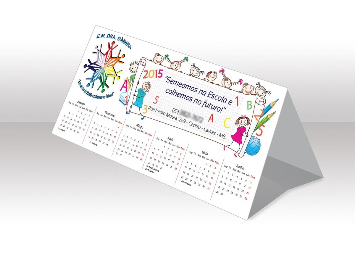 Calend rios de mesa 2018 personalizado 10 unidades r 33 50 em mercado livre - Plantilla calendario de mesa ...
