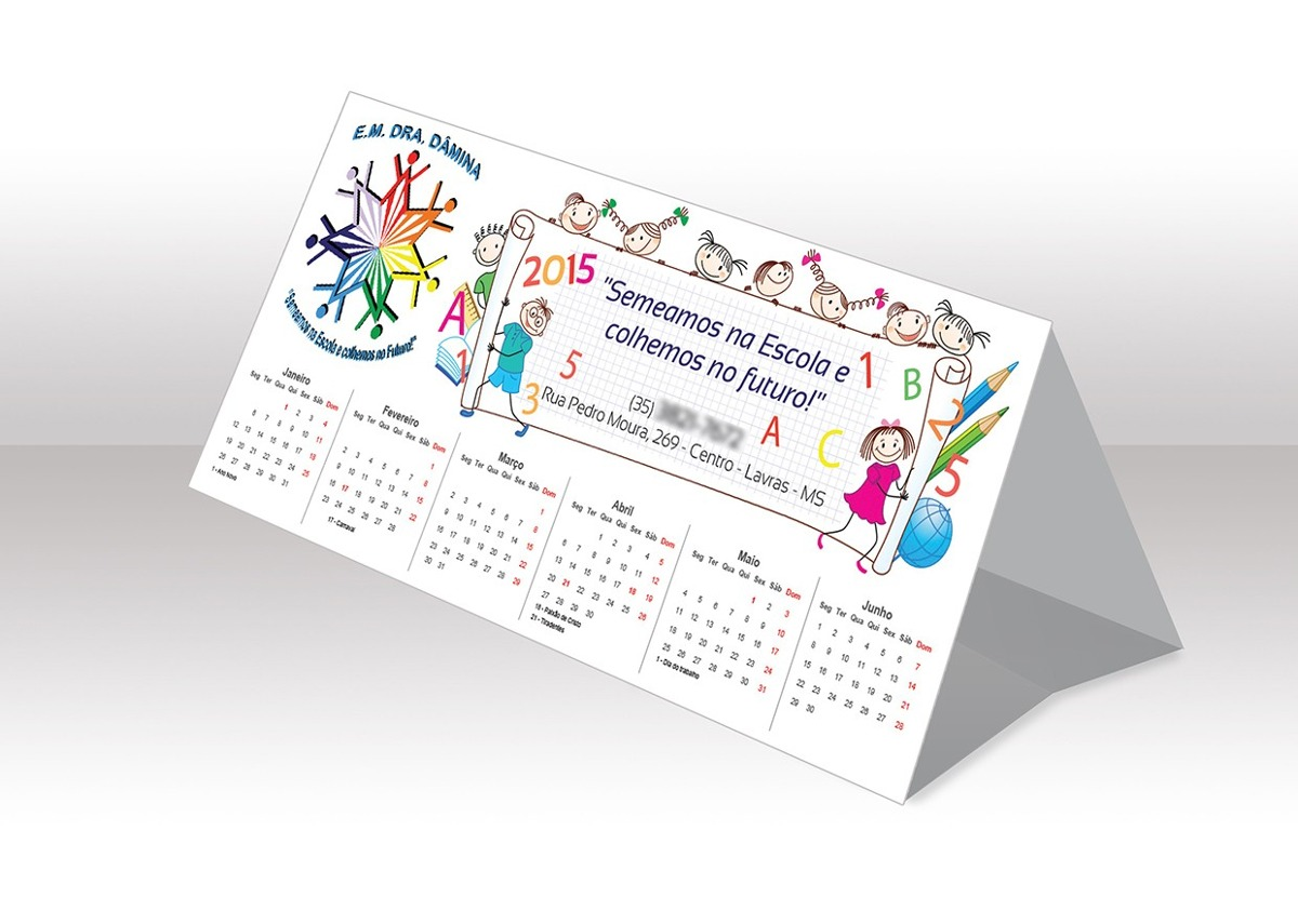 Calend rios de mesa 2018 personalizado r 28 00 em mercado livre - Calendario de mesa ...