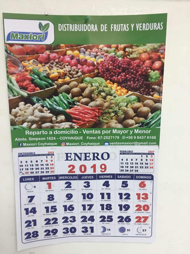 calendarios de pared personalizados tamaño 1/4 o xl