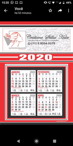calendários de parede personalizados