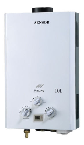 calentador a gas o supergas 10 lts tiro natural marca sensor