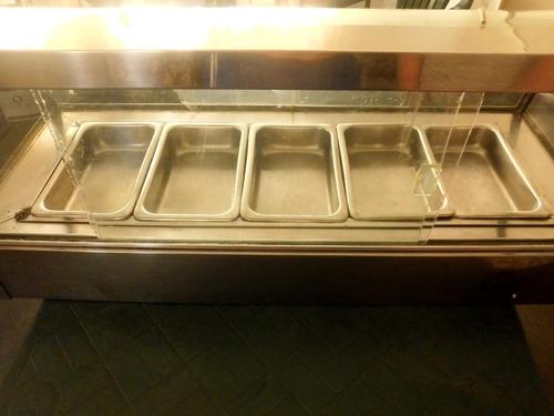 calentador baño maria de 5 bandejas