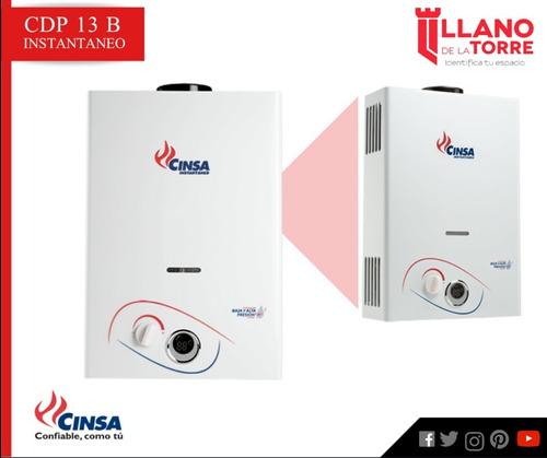 calentador cin-13 b instantaneo gas natural 13 lts/min
