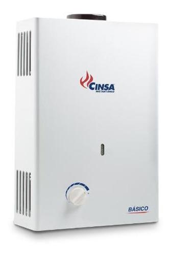 calentador cinsa 6lts. instantáneo básico gas lp