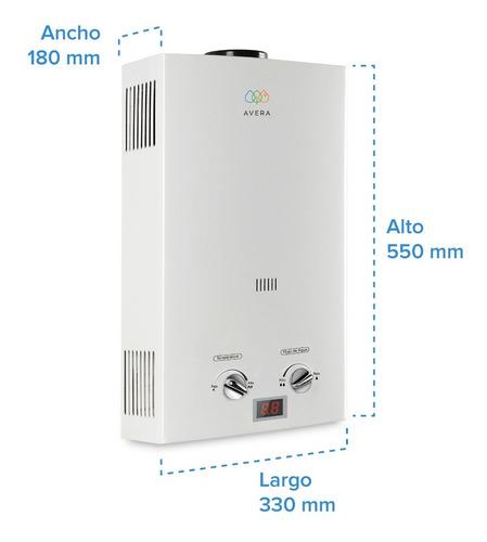 calentador de agua 2.5 servicios. avera c12l. gas natural.