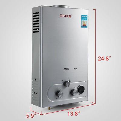 calentador de agua caliente sin tanque gas propano lp 3.2 g