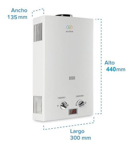 calentador de agua para 1 servicio. gas lp. avera c6l.