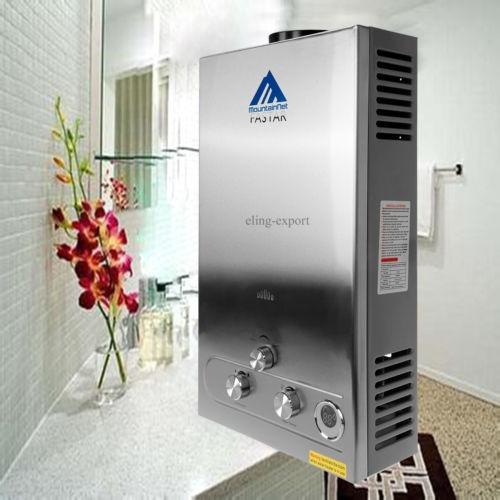 calentador de agua sin tanque de gas propano con calentador
