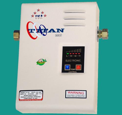 calentador de agua sin tanque para toda la casa titan n120