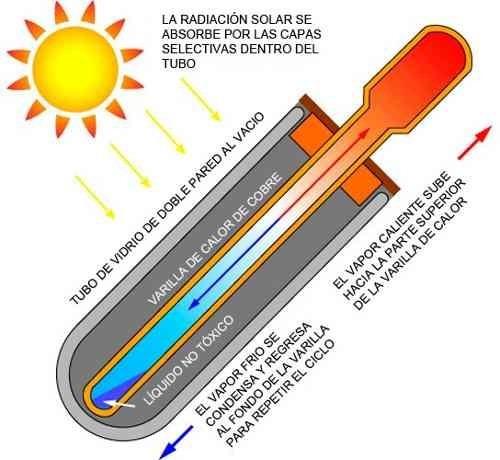 calentador de agua solar de tubos al vacio 100l