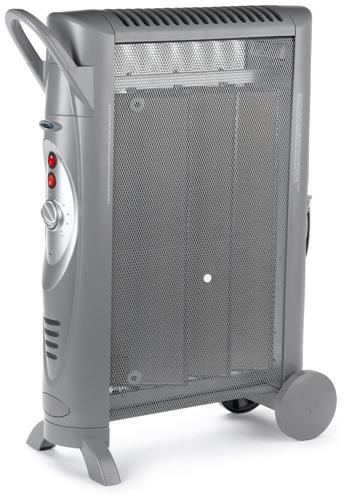 calentador de consola micatérmico silencioso con ruedas