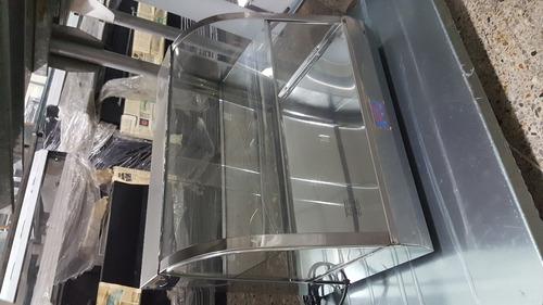 calentador de empanadas vidrio curvo, nuevos con garantia.