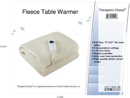 calentador de mesa de masaje de vellón deluxe therapist's ch