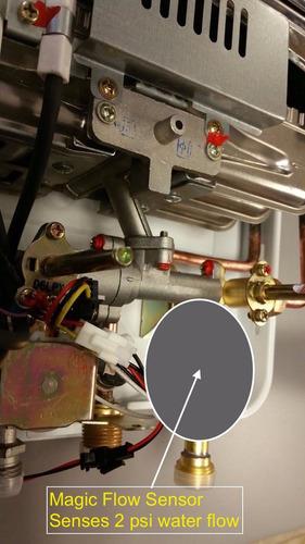 calentador de paso excel 5.5 gas domiciliario - baja presion