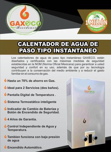 calentador de paso gaxeco12000 lp o natural +kit instalación