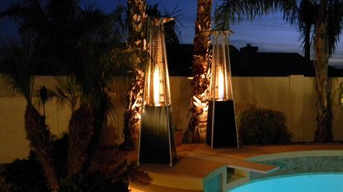 calentador de patio jardín tubo de cristal cuarzo con ruedas
