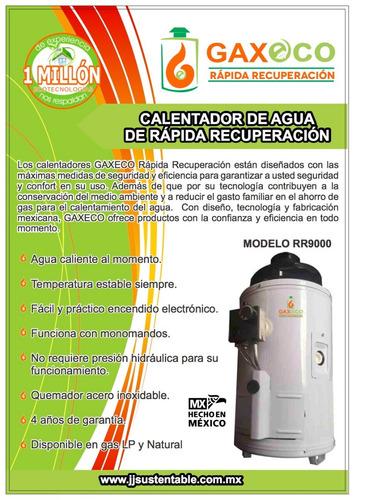 calentador de rápida recuperación gaxeco-rr9000 lp o natural