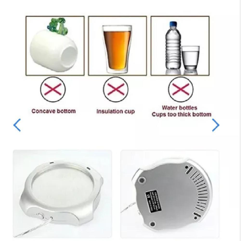 redondo /Calientaplatos Di /& Mi/ t/é Calentador Calentador de caf/é de acero inoxidable con portavelas