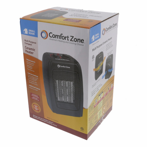 calentador electrico ceramico confort zone negro cz442wm