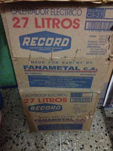 calentador electrico de 27 litros marca record