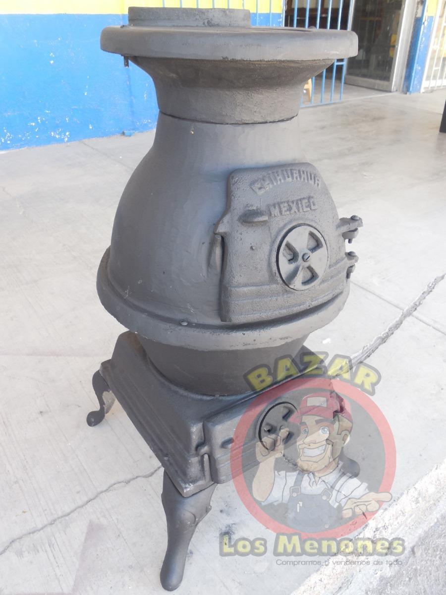 Calentador estufa chimenea le a hierro fundido 3 999 for Chimenea hierro fundido