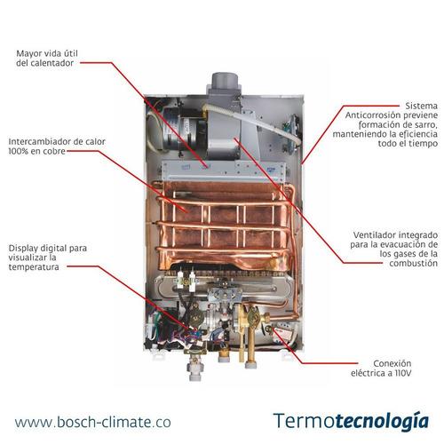 calentador gas natural tiro forzado bosch therm 1000f 10lt