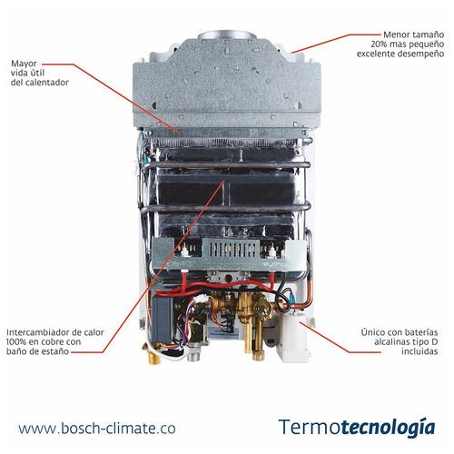calentador gas propano tiro natural bosch therm 1000o 13lt