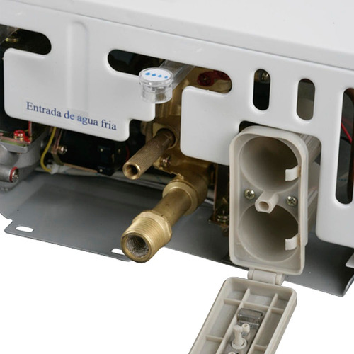 calentador haceb gas 13 lt  - cpg-13tn gn aut-blanco