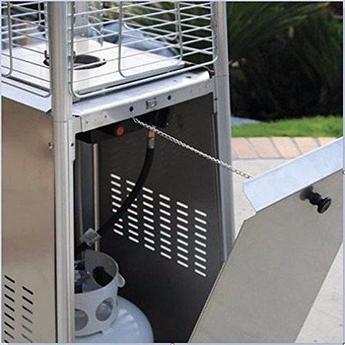 calentador para patio jardin exterior de cristal de cuarzo
