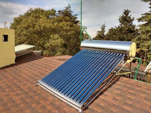 calentador solar 12 tubos acero inoxidable grado alimenticio