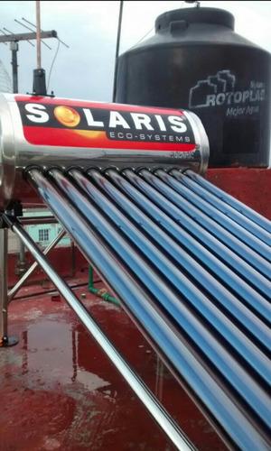 calentador solar 130 litros 3 personas 10 tubos