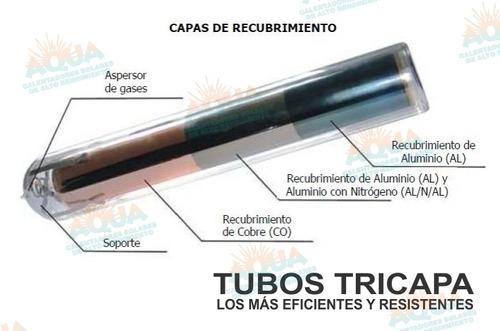 calentador solar 8 tubos acero inoxidable