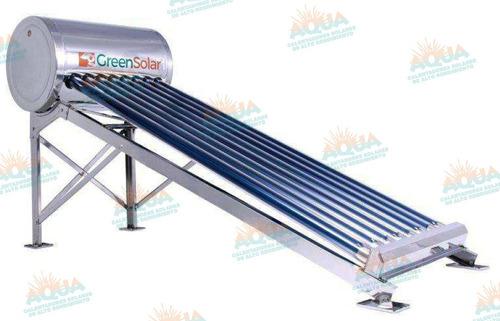 calentador solar 8 tubos greensolar acero inoxidable