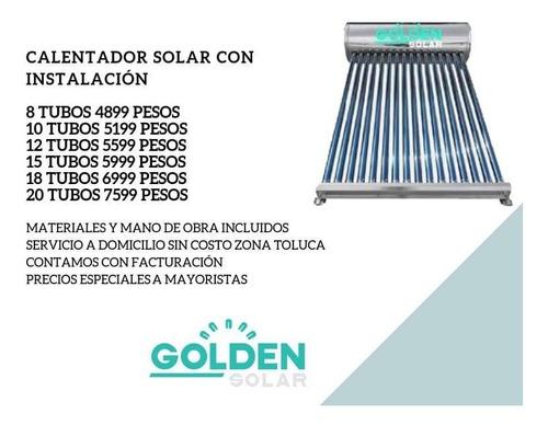 calentador solar con instalación