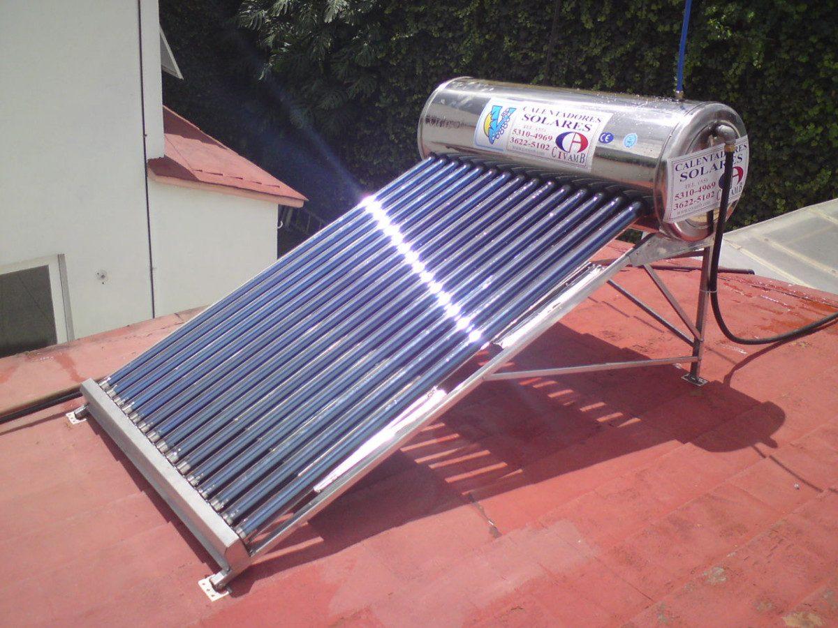Calentador solar de 186 lts para 5 personas gratis se for Calentadores para jardin