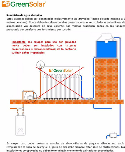 calentador solar greensolar 12 tubos 145 litros