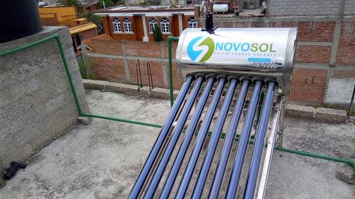 calentador solar inoxidable 15 tubos 173lt novosol +msi
