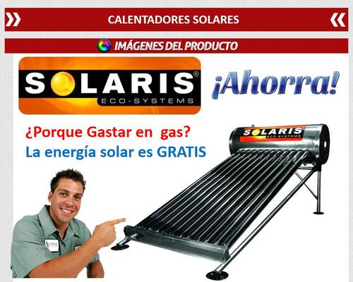 calentador solar solaris 30 tubos 30 lts 100% inoxidable