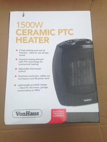 calentador vonhaus 1500w  y abanico para el calor