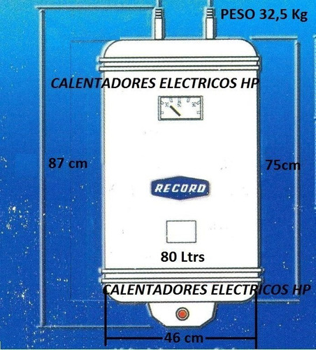 calentadores de agua electricos record 80ltrs 110v nuevo