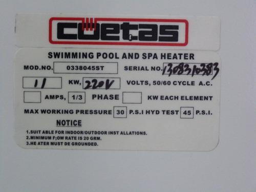 calentadores piscinas jacuzzis