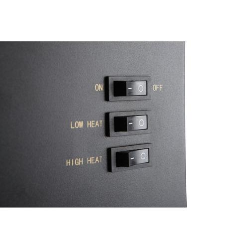 calenton electrico tipo leña 45 frente 26 fondo 68 altur cm.