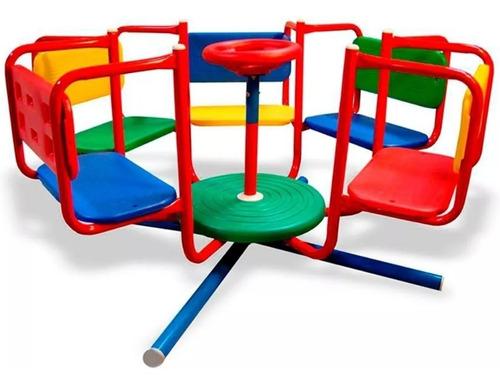 calesita 5 asientos metal reforzada katib 3 a 7 años hamaca