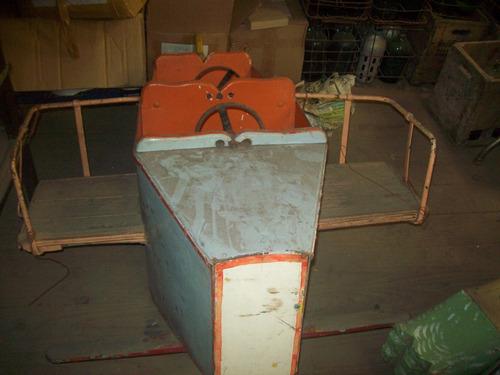calesita antigua avion de madera